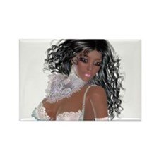Black girl Rectangle Magnet