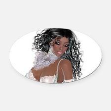 Black girl Oval Car Magnet