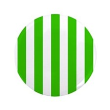 """Green and white vertical stripes 3.5"""" Button"""