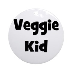 Veggie Kid - Black Ornament (Round)