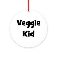 Veggie Kid - Black Ornament (Round)