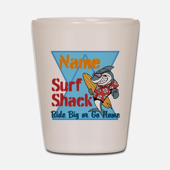 Custom surf shack Shot Glass