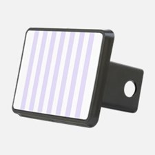 Lilac purple and white vertical stripes Rectangula