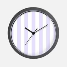 Lilac purple and white vertical stripes Wall Clock
