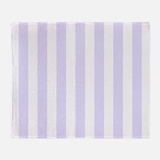 Lilac purple and white vertical stripes Throw Blan