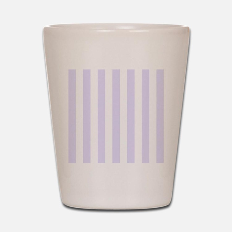 Lilac purple and white vertical stripes Shot Glass