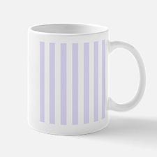Lilac purple and white vertical stripes Small Mug