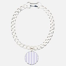 Lilac purple and white vertical stripes Bracelet