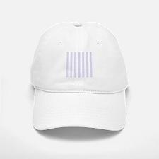 Lilac purple and white vertical stripes Baseball Baseball Cap