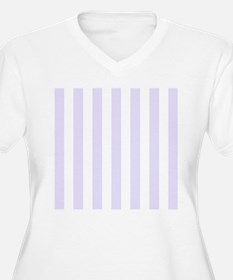 Lilac purple and white vertical stripes Plus Size