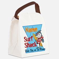 Custom surf shack Canvas Lunch Bag