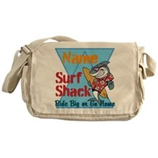 Custom surf shack Messenger Bag