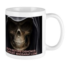 Skull Death Before Dishonor Mug