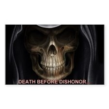 Skull Death Before Dishonor Decal