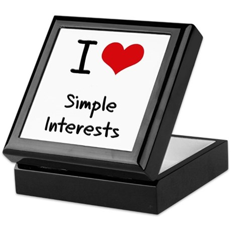 I Love Simple Interests Keepsake Box