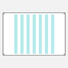 Mint Blue and white vertical stripes Banner