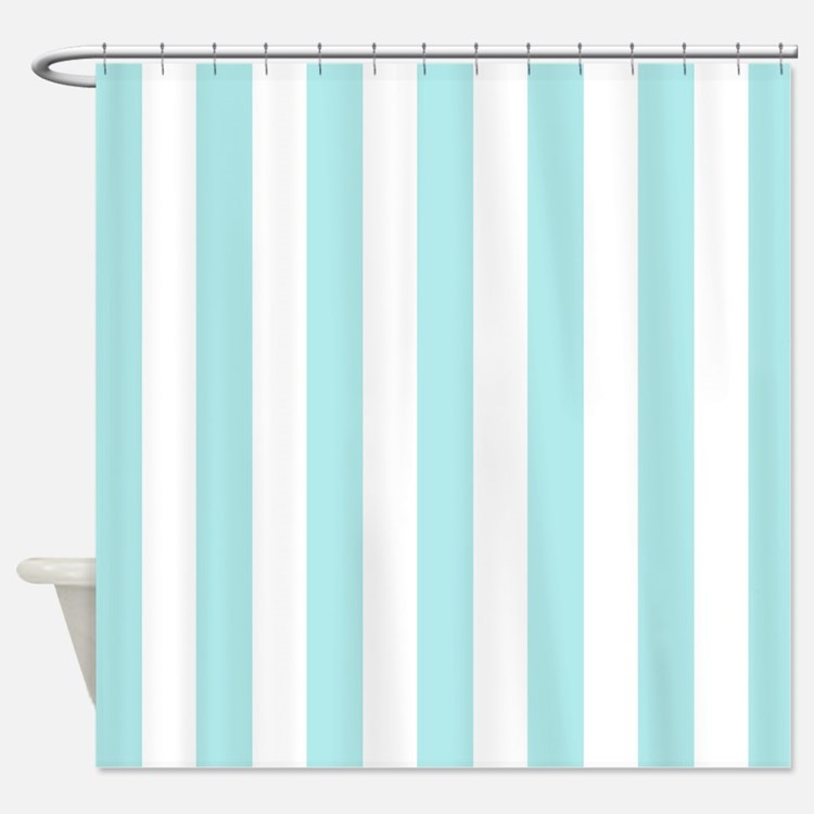 Mint Blue Striped Shower Curtains Mint Blue Striped Fabric Shower Curtain Liner
