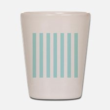 Mint Blue and white vertical stripes Shot Glass