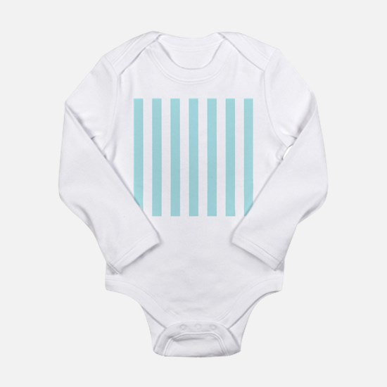 Mint Blue and white vertical stripes Body Suit