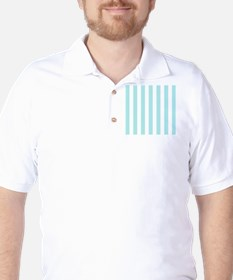 Mint Blue and white vertical stripes T-Shirt
