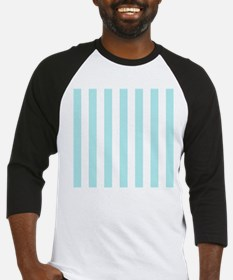 Mint Blue and white vertical stripes Baseball Jers