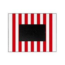 Red and white vertical stripes Picture Frame