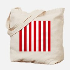 Red and white vertical stripes Tote Bag