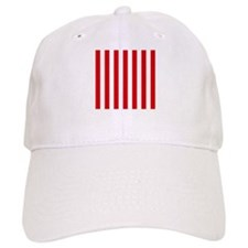 Red and white vertical stripes Baseball Cap