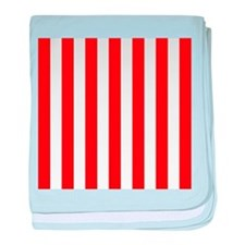 Red and white vertical stripes baby blanket