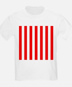Red and white vertical stripes T-Shirt
