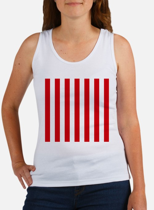 Red and white vertical stripes Tank Top