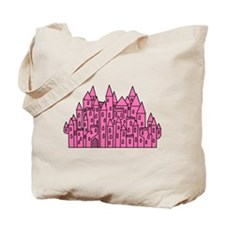 Pink Castle. Tote Bag