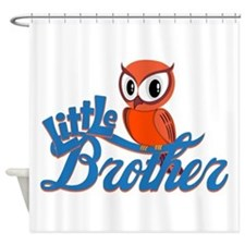 Little Brother Owl Shower Curtain