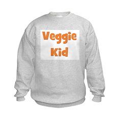 Veggie Kid Orange Sweatshirt