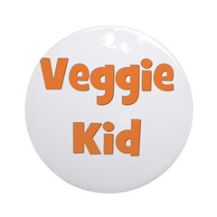 Veggie Kid Orange Ornament (Round)
