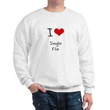 I Love Single File Jumper