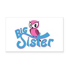 So Girly Owl Big Sister Rectangle Car Magnet