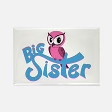 So Girly Owl Big Sister Rectangle Magnet