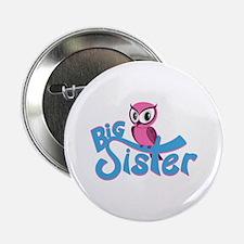 "So Girly Owl Big Sister 2.25"" Button"