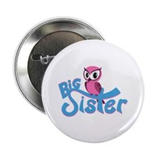 """So Girly Owl Big Sister 2.25"""" Button (10 pack)"""