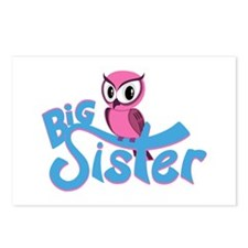 So Girly Owl Big Sister Postcards (Package of 8)