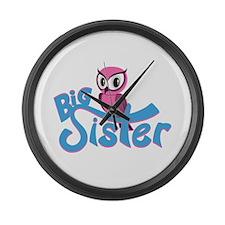 So Girly Owl Big Sister Large Wall Clock