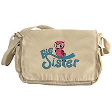 So Girly Owl Big Sister Messenger Bag