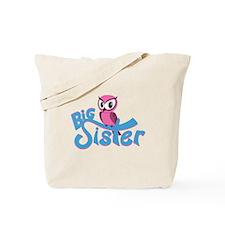 So Girly Owl Big Sister Tote Bag