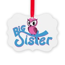 So Girly Owl Big Sister Ornament