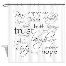 Positive Words - Shower Curtain