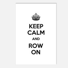 Keep Calm and Row On Postcards (Package of 8)
