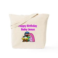 Happy Birthday Baby Jesus-pink Tote Bag