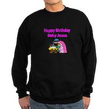 Happy Birthday Baby Jesus-pink Sweatshirt