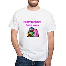 Happy Birthday Baby Jesus-pink T-Shirt